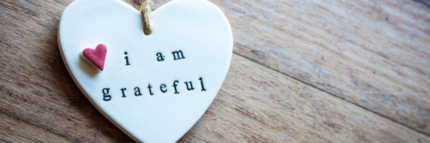 I am grateful Ceramic Heart Decoration